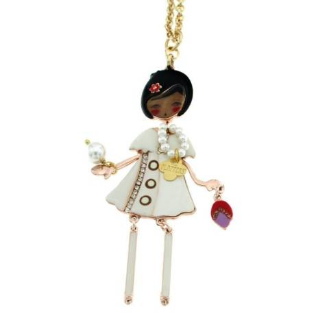 FLAPPERS  COLLANA BIANCA/ROSE'