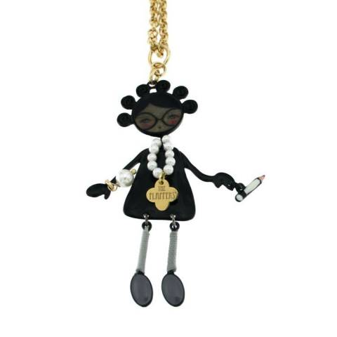 FLAPPERS  COLLANA NERA