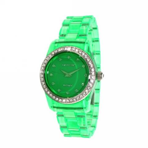 T-COLOR MINI  OROLOGIO LIGHT GREEN TRANSPARENT