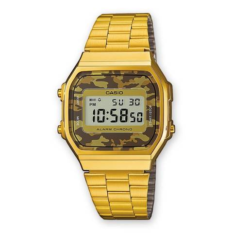 COLLECTION RETRO OROLOGIO GOLD CAMOUFLAGE BROWN