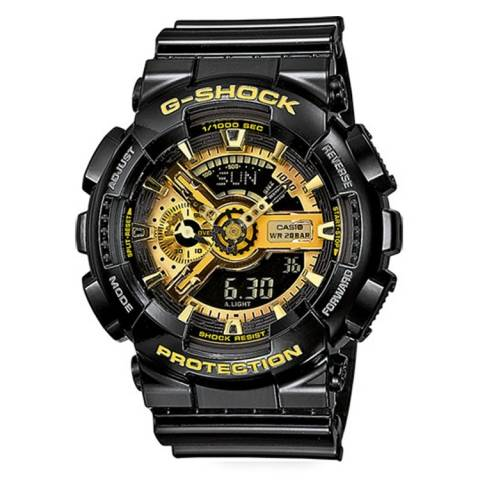 G-SHOCK NERO/GOLD