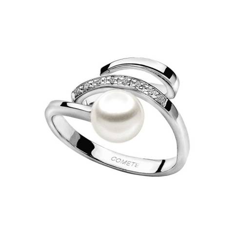FANTASIE DI PERLE ANELLO WHITE & DIAMONDS ANP 266