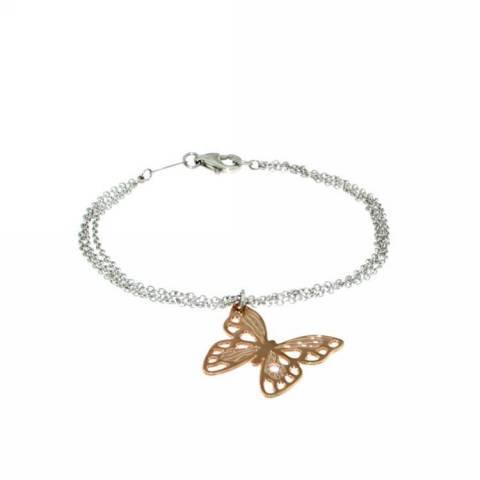 BUTTERFLY BRACCIALE ACCIAIO ROSE