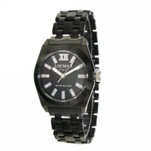 STEALTH LADY OROLOGIO NERO DIAMANTI