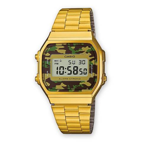 COLLECTION RETRO OROLOGIO GOLD CAMOUFLAGE VERDE