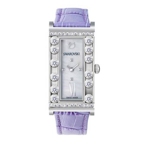 LOVELY CRYSTAL SQUARE LILAC OROLOGIO