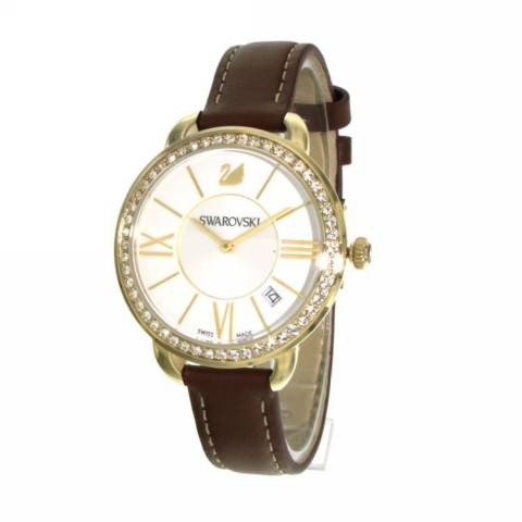 AILA DAY OROLOGIO BROWN YELLOW GOLD TONE